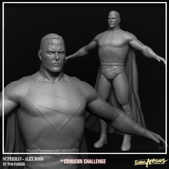 Superman_HighPoly_Shot